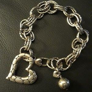 BRIGHTON Pebble heart bracelet w.heart